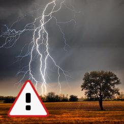 Ostrzeżenie meteorologiczne IMGW: Burze z gradem