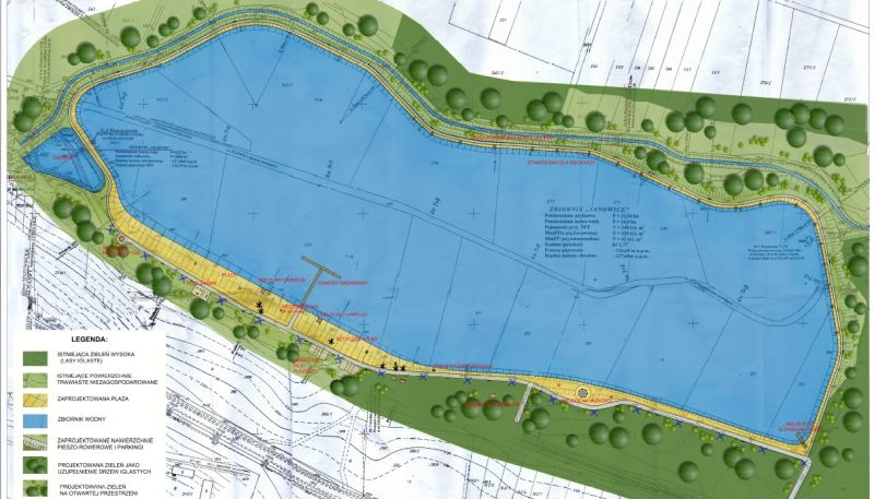 Projekt zalewu w Janowicach