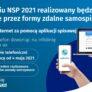 W kwietniu NSP 2021 realizowany będzie wyłącznie przez formy zdalne samospisu